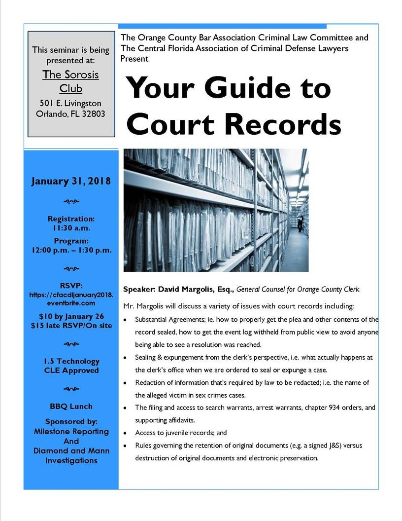 CFACDL and OCBA Criminal Law Committee Presents: Your Guide